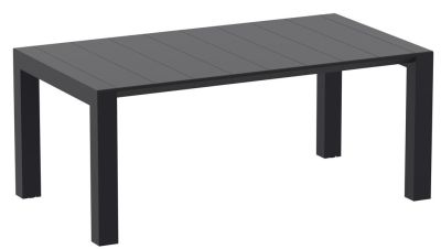 Konvey Large Black Outdoor Table Assembled