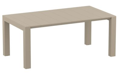 Konvey Large Outdoor Extendable Table In Taupe