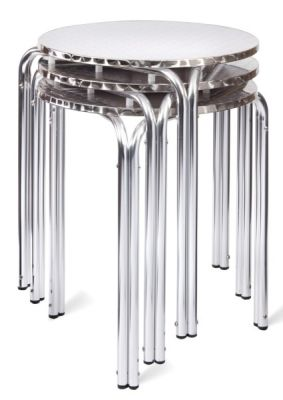 Three Lyon Stackable Tables Stacked