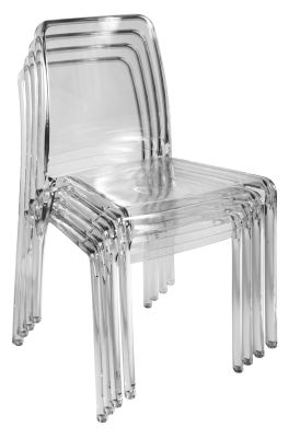 Santia Chair Clear Finish Stacked