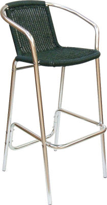 Sonata High Stool In A Green Weave
