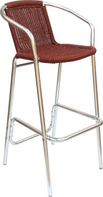 Sonata High Stool In Red Weave