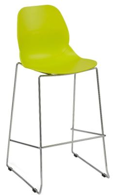 Mylo High Stool Lime Green Seat Shell