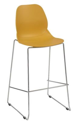 Mylo High Stool Mustard Seat Shell