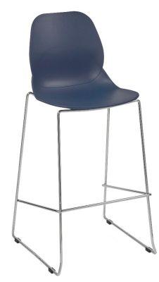 Mylo High Stool Navy Seat Shell