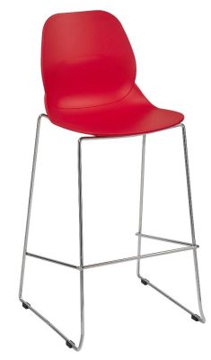 Mylo High Stool Red Seat Shell