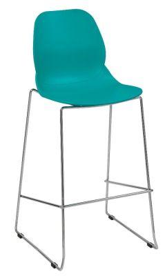 Mylo High Stool Turquoise Seat Shell
