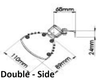 Double Side Dimensions