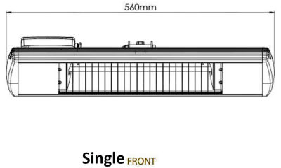 Single Front Dimensions
