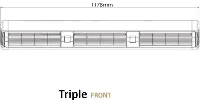 Triple Front Dimensions