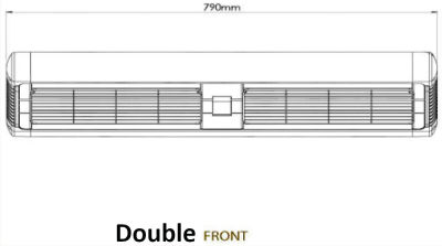 Front Dimensions Double