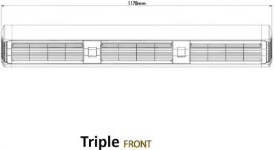 Front Dimensions Triple