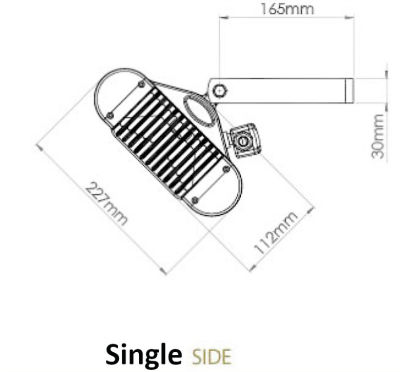 Side Dimensions Single