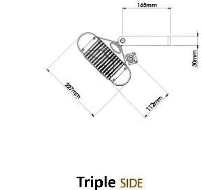 Side Dimensions Triple