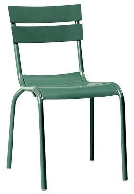 Mexa Outdoor Aluminium Side Chair In Light Bliue