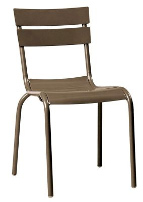 Mexa Aluminium Side Chair In Grey