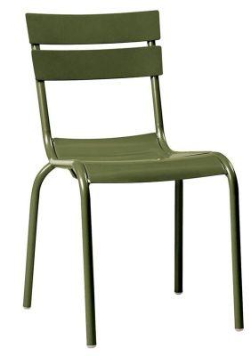 Mexa Aluminium Side Chair In Olive Green