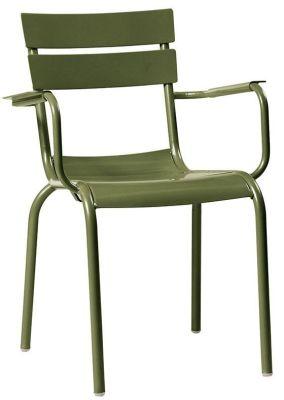 Mexa Aluminium Armchair In Olive Green