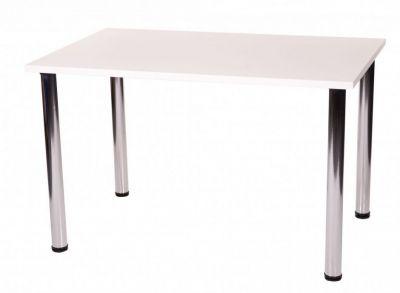 Large-Rectangular-Cafe-Table-Four-Chrome-Legs
