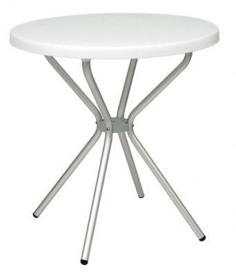 White-Thermoplastic-Table-White-Round-Aluminium-Frame