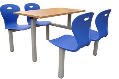 Fast Food Furniture Canteen Style Plastic Seating