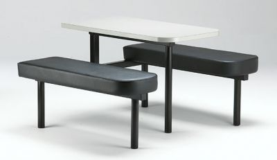 Fast Food Unit With Upholstered Bench Seat And Table