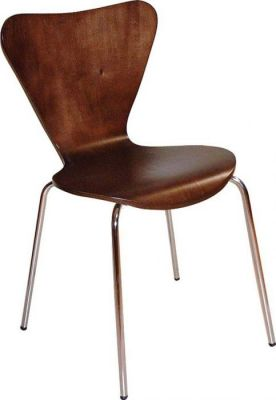 Keeler-Style-Cafe-Chair-with-Chrome-Legs-Wenge-Finish