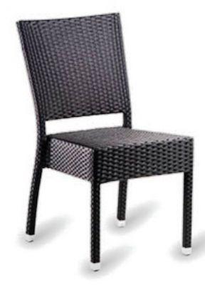 High Back Weave Chair In Dark Brown