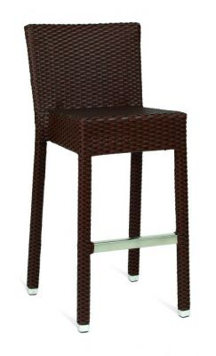 Outdoor-Black-Weave-High-Stool-with-Back