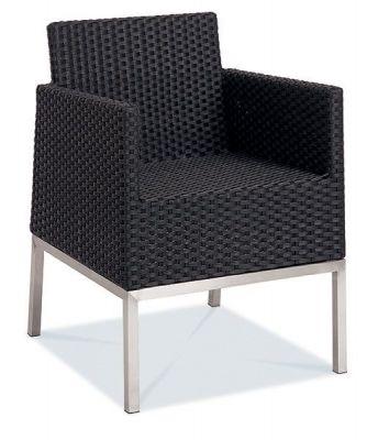 Outdoor-Use-Armchair-Black-Weave-Aluminium-Frame
