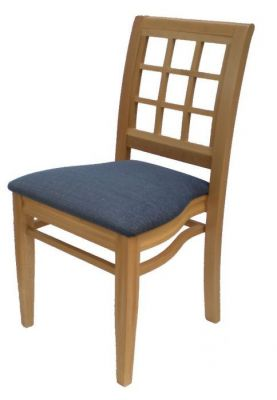 Wood-Dining-Chair-Decorative-Back-Panel-Padded-Seat