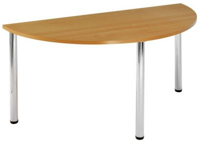 Half-Moon-Contract-Canteen-Table-with-MFC-Wood-Finish-Top-Chrome-Legs