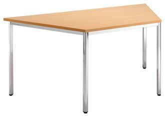 Contract-Trapezoid-Shape-Canteen-Table-Chrome-Frame