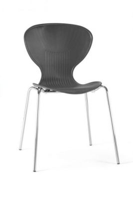 Black Polypropelene Chair For Use In Cafes
