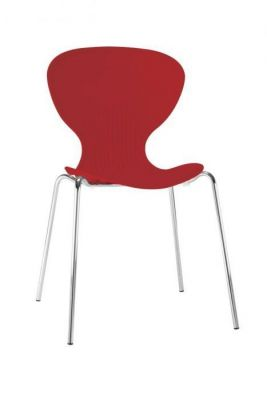 Strong Polypropelene Chair Coloured Seat And Chrome Legs