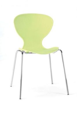 Bold Colour Yellow Classic Design Bistro Chair Polypropelene Shell