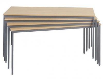 Stacking Value Canteen Tables Wood Finish Top