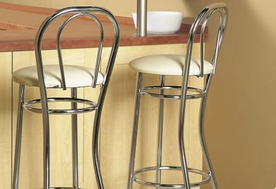 Bar Stools With Leather Upholstered Seat
