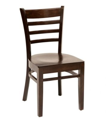 Walnut Finish Dining Chair For Cafes And Restaurants