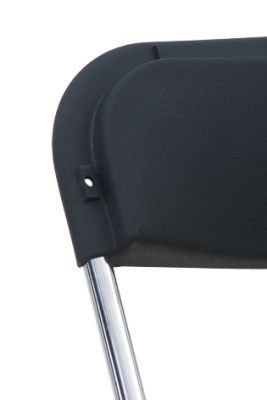Black Plastic Seat And Back Folding Chair