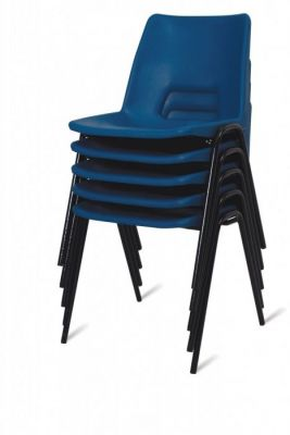 Coloured Stacking Polypropelene Canteen Chair
