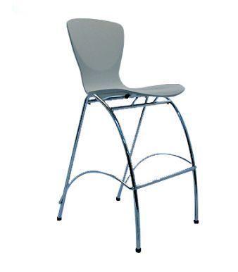 Polypropelene Plastic Seat Chrome Frame Barstool
