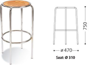 Dimensions For Round Barstool With Chrome Frame
