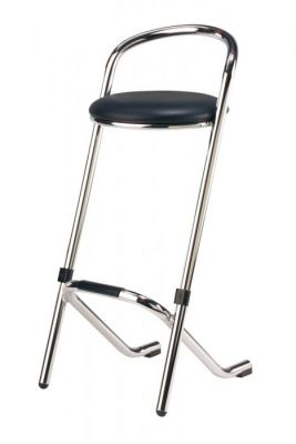 Modern Chrome Frame Stackinbg Bar Stool