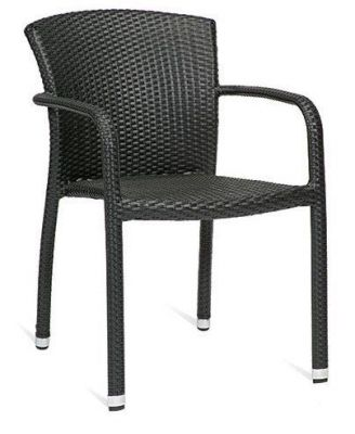 Outdoor-Black-Synthetic-Weave-Armchair