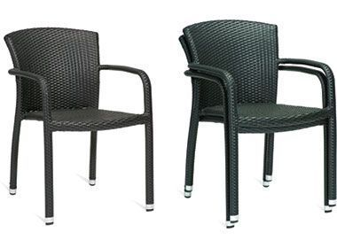 Stacking-Outdoor-Black-Weave-Armchair