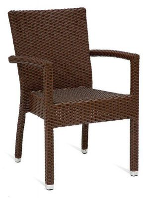 Brown-Synthetic-Leather-Weave-Outdoor-Armchair