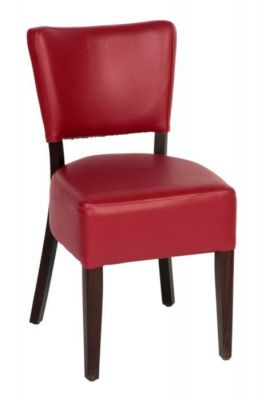 Red-Faux-Leather-Upholstered-Seat-and-Back-Dining-Chair