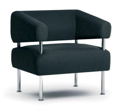 One-Seat-Designer-Sofa-Chrome-Columns