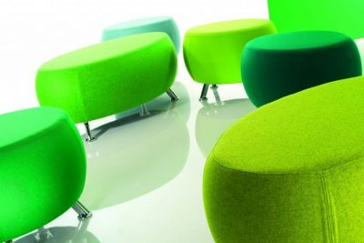 Bright-Colour-Breakout-Seating-Oval-Upholstered-Chrome-Legs